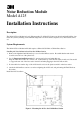 Page #1 of 3M MODULE A125 Manual