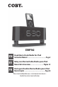 Coby CSMP162 - AM/FM Dual Alarm Clock/Radio | Page 1 Preview
