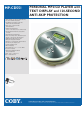 Coby COBY MP-CD551 Manual