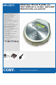 Coby MP-CD571 MP3 Player Manual, Page 1
