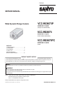 Sanyo VCC-WD8875P Camcorder, Security Camera Manual, Page 1