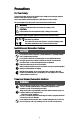 Panasonic Panafax UF-9000 All in One Printer, Fax Machine Manual, Page 4
