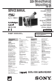 Sony Digital8 DCR-TRV410 Camcorder Manual, Page 1