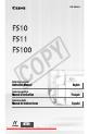Canon FS10 Camcorder, Digital Camera Manual, Page 1