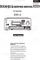 Integra DTR-7.2 Amplifier, Receiver Manual, Page 1