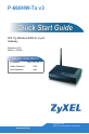 ZyXEL Communications P-660HW-T1 v3   Page 1 Preview