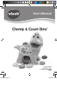 VTech Chomp & Count Dino Toy Manual, Page 1