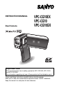 Sanyo VPC-CG10BK Camcorder, Digital Camera Manual, Page 1