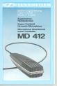 Sennheiser MD 412 Manual, Page #1