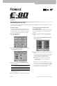 Roland E-80 Manual, Page #1