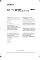 Roland KR-11 Page 1