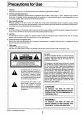 Preview Page 2 | Panasonic AGDP800 - CAMERA/RECORDER3CCD Camcorder Manual