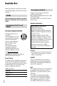 Page 4 Preview of Sony DCR-SR220 Handycam® Operating manual