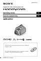 Page 1 Preview of Sony Handycam HDR-SR10 Operating manual