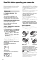 Sony 3-286-590-12(1) Camcorder Manual, Page 2