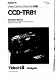 Page 1 Preview of Sony CCD-TR81 - 8mm Camcorder Operation manual