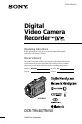 Sony DCR-TRV40 Manual, Page #1