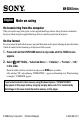 Preview Page 1 | Sony NWS203F - S2 Sports Walkman 1 GB Digital Player Kitchen Appliances, MP3 Player Manual