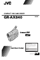 JVC GR-AX840 | Page 1 Preview