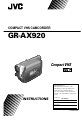 JVC GR-AX920 Camcorder Manual, Page 1