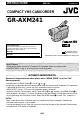 JVC GR-AXM241   Page 1 Preview