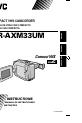 JVC GR-AXM33UM Camcorder Manual, Page 1