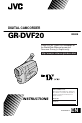 JVC GR-DVF20   Page 1 Preview