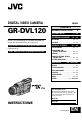 JVC GR-DVL120A Camcorder Manual, Page 1
