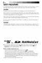 JVC GR-DVM75 Camcorder Manual, Page 4