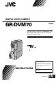JVC GR-DVM70U - Digital Cybercam Camcorder | Page 1 Preview