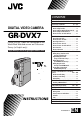 JVC GR-DVX7 | Page 1 Preview