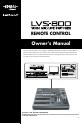 Edirol LVS-800 - | Page 1 Preview