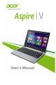 Acer Aspire V5-132 Laptop Manual, Page 1