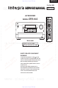Preview Page 1 | Integra DTR-10.5 Receiver Manual