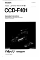 Preview Page 1   Sony Handycam CCD-F401 Camcorder Manual