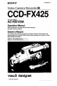 Page 1 Preview of Sony Handycam CCD-FX425 Operation manual