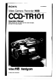 Sony Handycam CCD-TR101 Manual, Page 1
