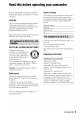 Sony Handycam DCR-DVD608 Camcorder Manual, Page 5