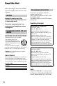 Preview Page 4 | Sony Handycam HDRSR11 Camcorder Manual