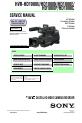 Sony HVR-HD1000U Manual, Page #1