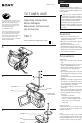 Sony TGV-7 Manual, Page #1