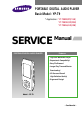 Page 1 Preview of Samsung YP-T9BZB Service manual