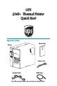 Zebra UPS 2348+ Printer Manual, Page 1