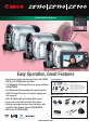 Preview Page 1 | Canon ZR900 Camcorder, Digital Camera Manual