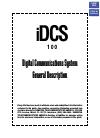 Samsung iDCS 100 General Description Manual 88 pages