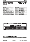 Roland RD-700 Service note