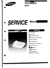 Samsung SF11OT Servise Manual 87 pages