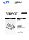 Samsung SF-150T Service Manual 67 pages