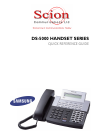 Samsung DS-5000 Quick Reference Manual 10 pages