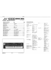 Roland JV-1000 Service Notes 33 pages